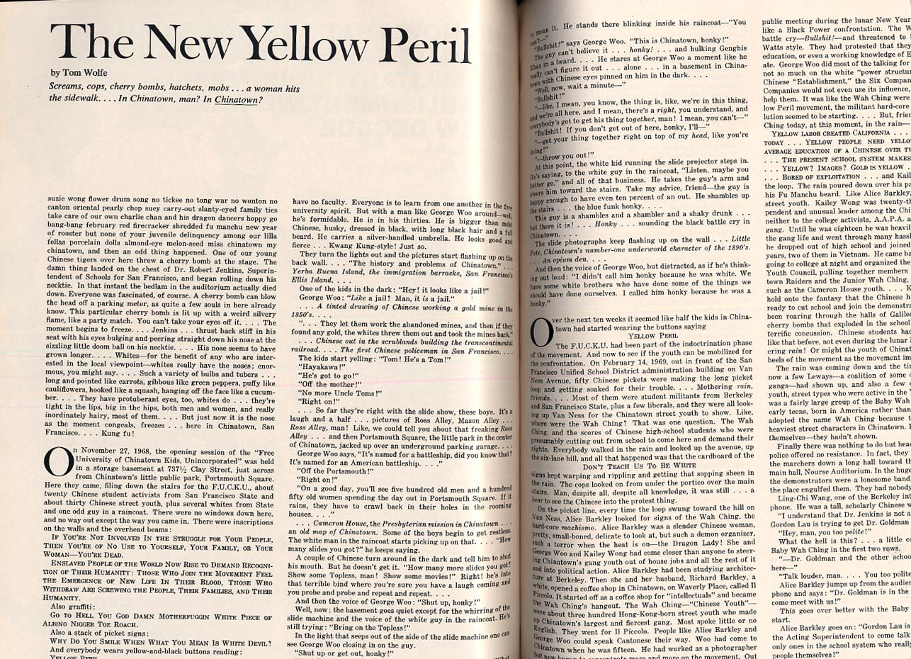 ESQUIRE 12 1969 Tom Wolfe; New Homosexuality; 1969 necrology +