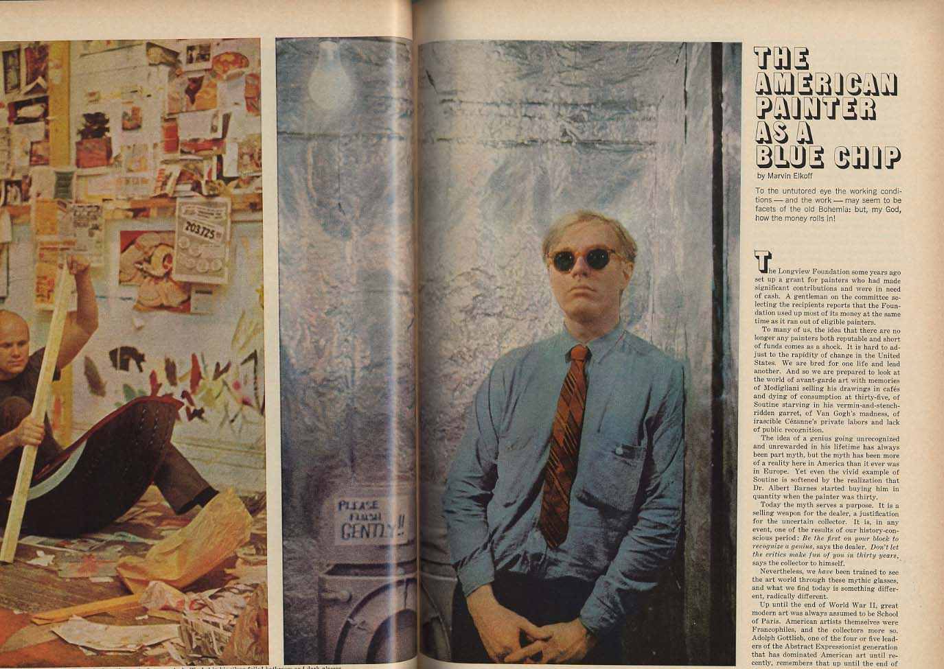ESQUIRE 1 1965 Y A Tittle Tennessee Williams Bellow Dubious Achievements +