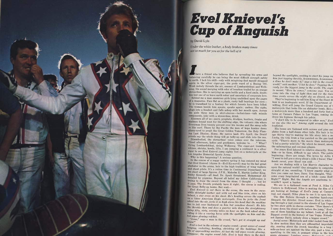 ESQUIRE 1 1970 Dubious Achievements; Evel Knievel New York Knicks +