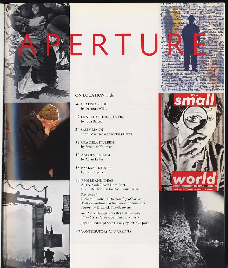 APERTURE Winter 1995 Cartier-Bresson Serrano Mann Sligh Iturbide Kruger
