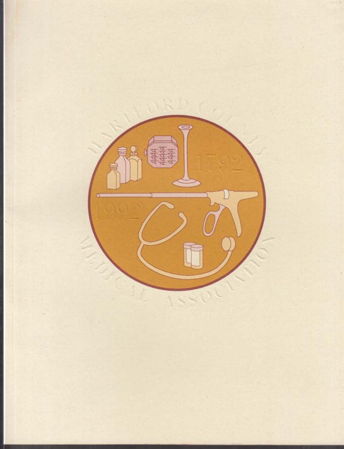 Hartford County Medical Association 100-year history brochure 1992 CT