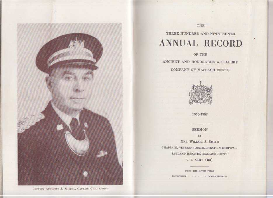 Ancient & Honorable Co Massachusetts Annual Record 1956-1957