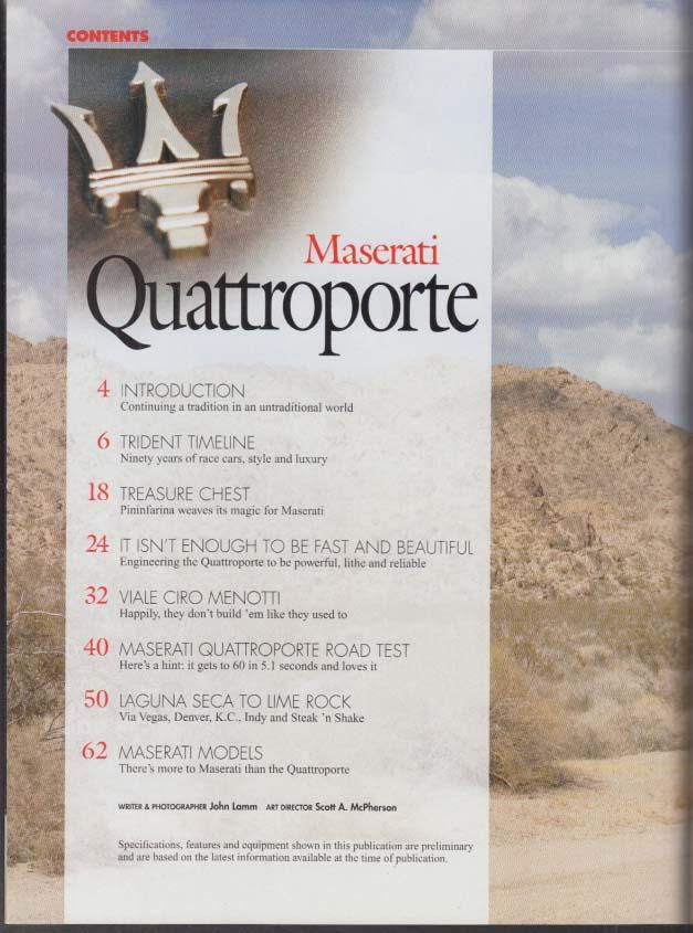 ROAD & TRACK Guide to the Maserati Quattroporte 2004