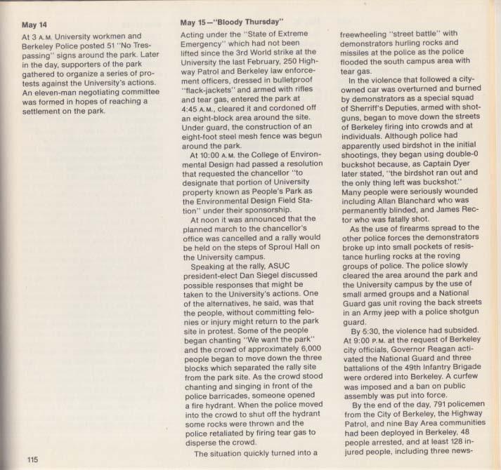 People's Park photo documentary book 1st edition 1969 Berkley CA