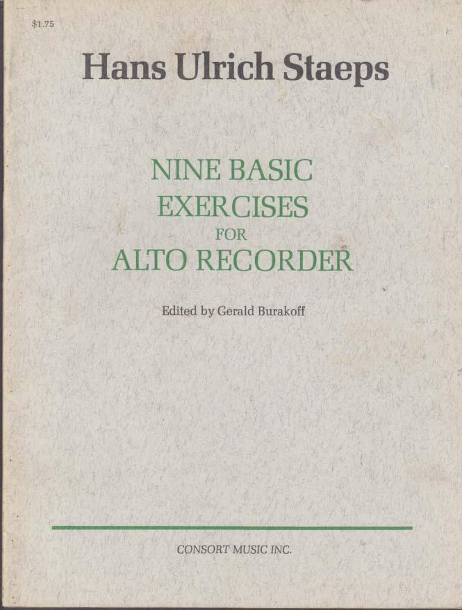 Hans Ulrich Staeps: Nine Basic Exercises for Alto Recorder 1970