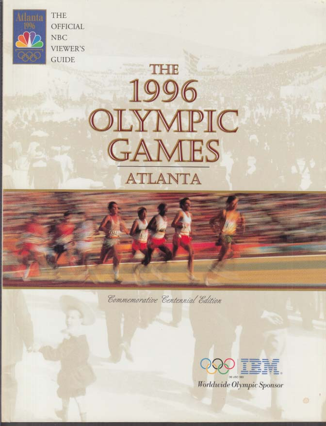1996 Olympic Games Atlanta Official NBC Viewer's Guide