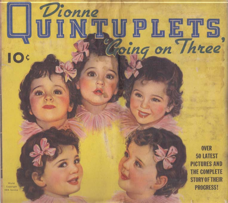Dionne Quintuplets Going On Three picture book 1936