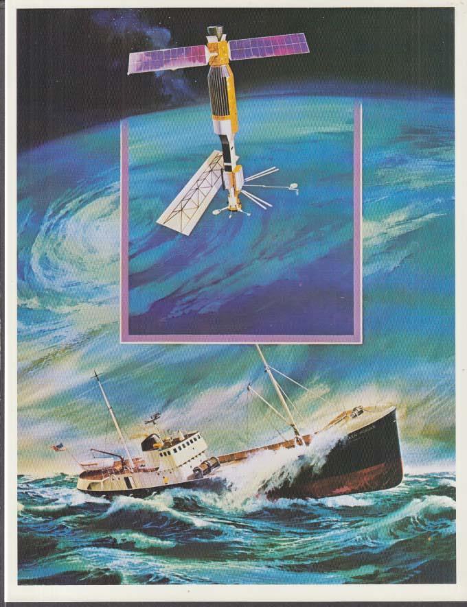 SEASAT Earth-Orbiting SAR Ocean Satellite set of 3 color prints NASA 1978