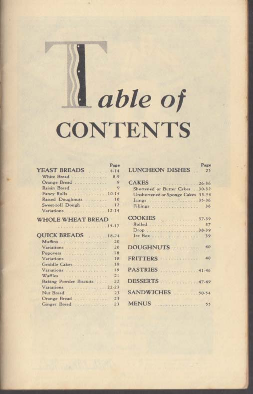 Occident Flour Baking Made Easy recipe booklet 1930s bread cake cookies doughnut