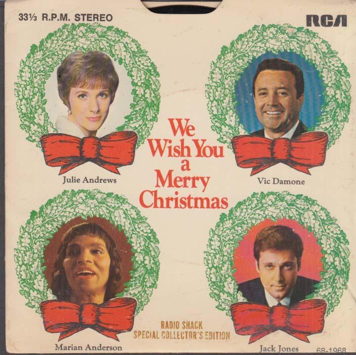 Radio Shack 33rpm Christmas record Julie Andrews Marian Anderson ...