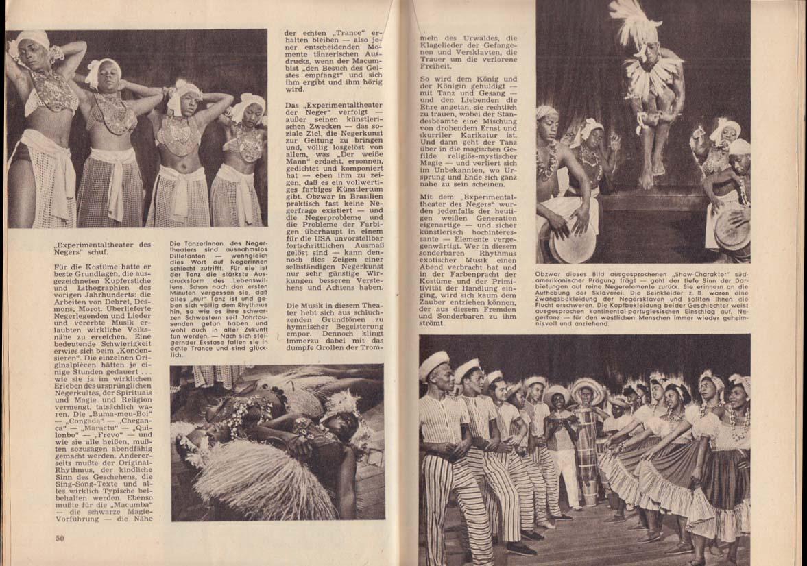 NEUE MELANGE German magazine 7 1952 studio nudes; Joan Greenwood; Negro Cabaret