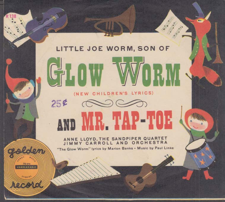 Son of Glow Worm / Mr Tap-Toe Little Golden Record 78rpm 1953