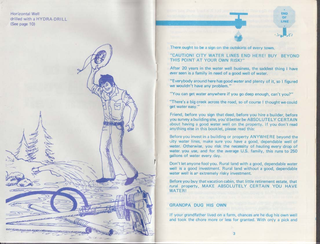 Hydra-Drill Drilling a Water Well instruction booklet 1970s Deep Rock Opelika AL