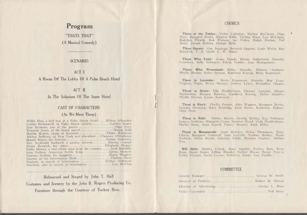 Detroit DeMolay That's That Musical Comedy program ca 1930s