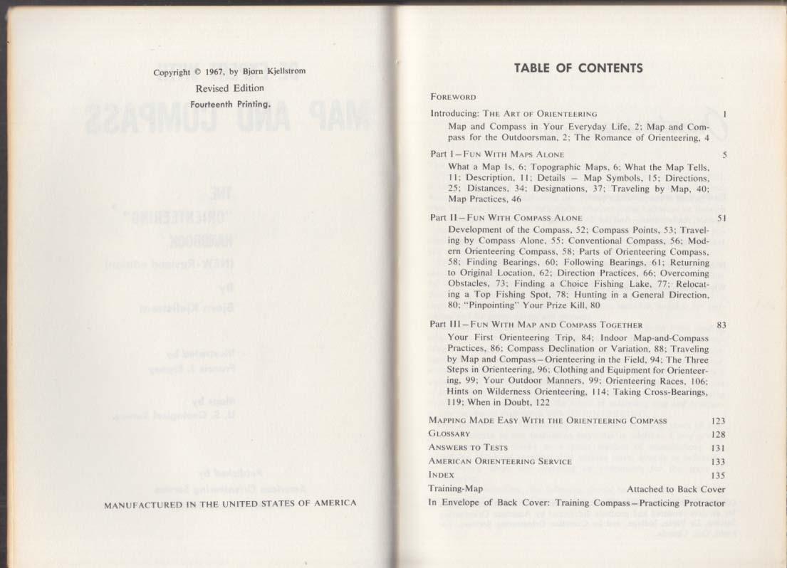 American Orienteering Be Expert with Map & Compass handbook 1967