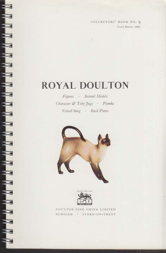 Royal Doulton Figures Catalog #9 1965 w/ price list & 1966 additions folder