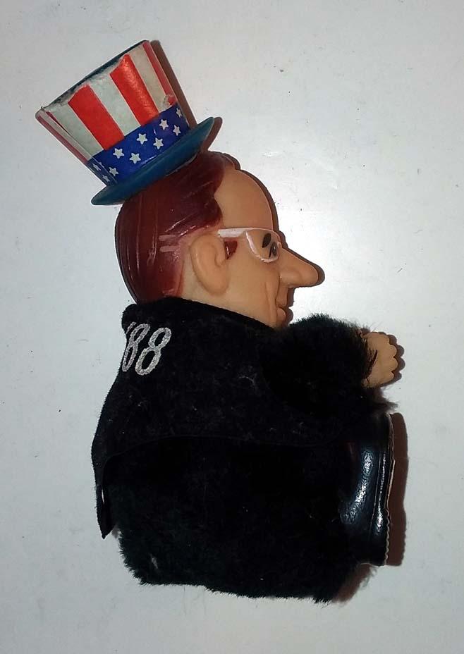 George H W Bush campaign plastic & cloth figure 1988 made in Korea