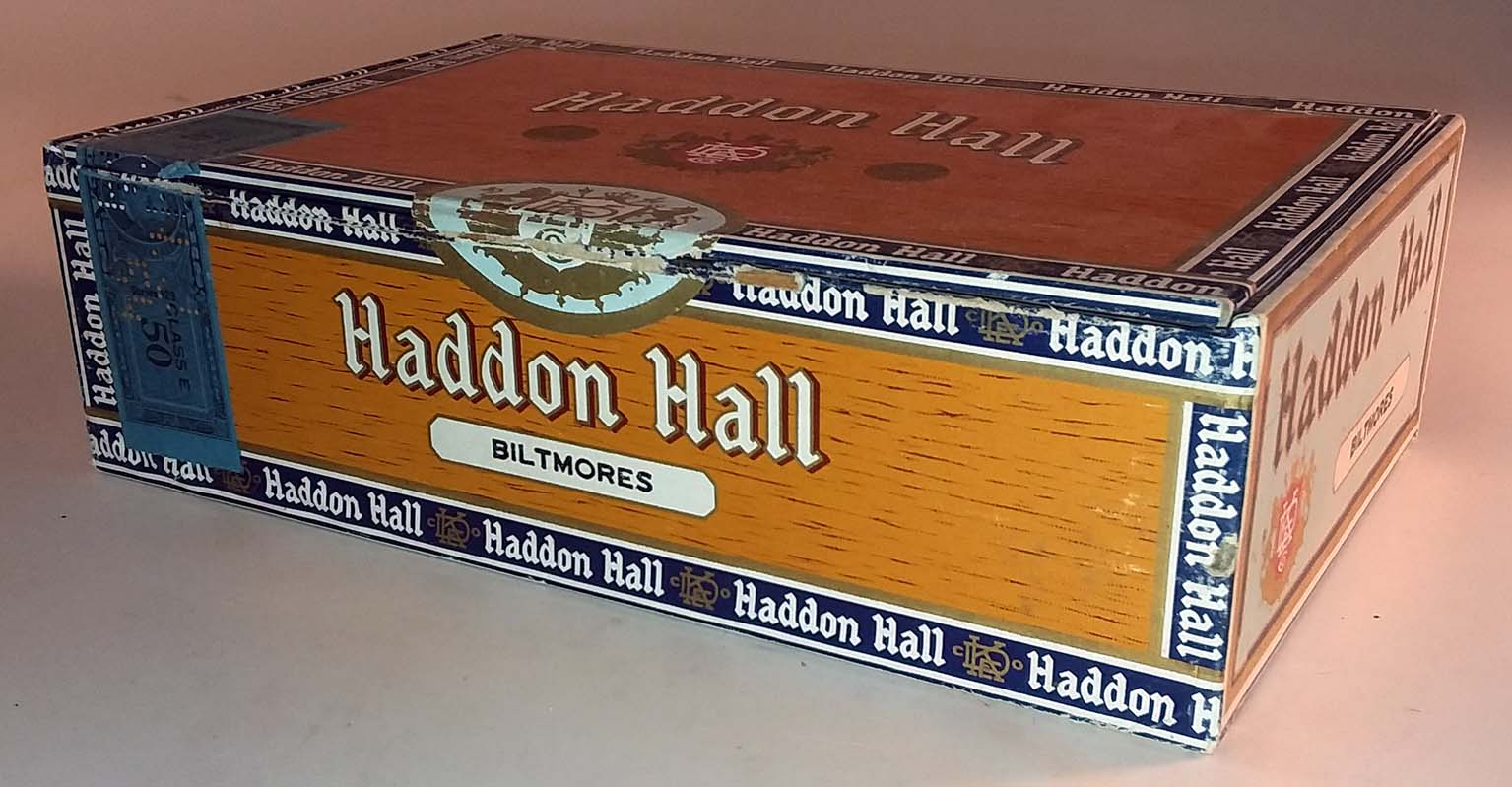 D Emil Klein Haddon Hall Biltmores Cigar Box empty Claro S S Pierce Boston
