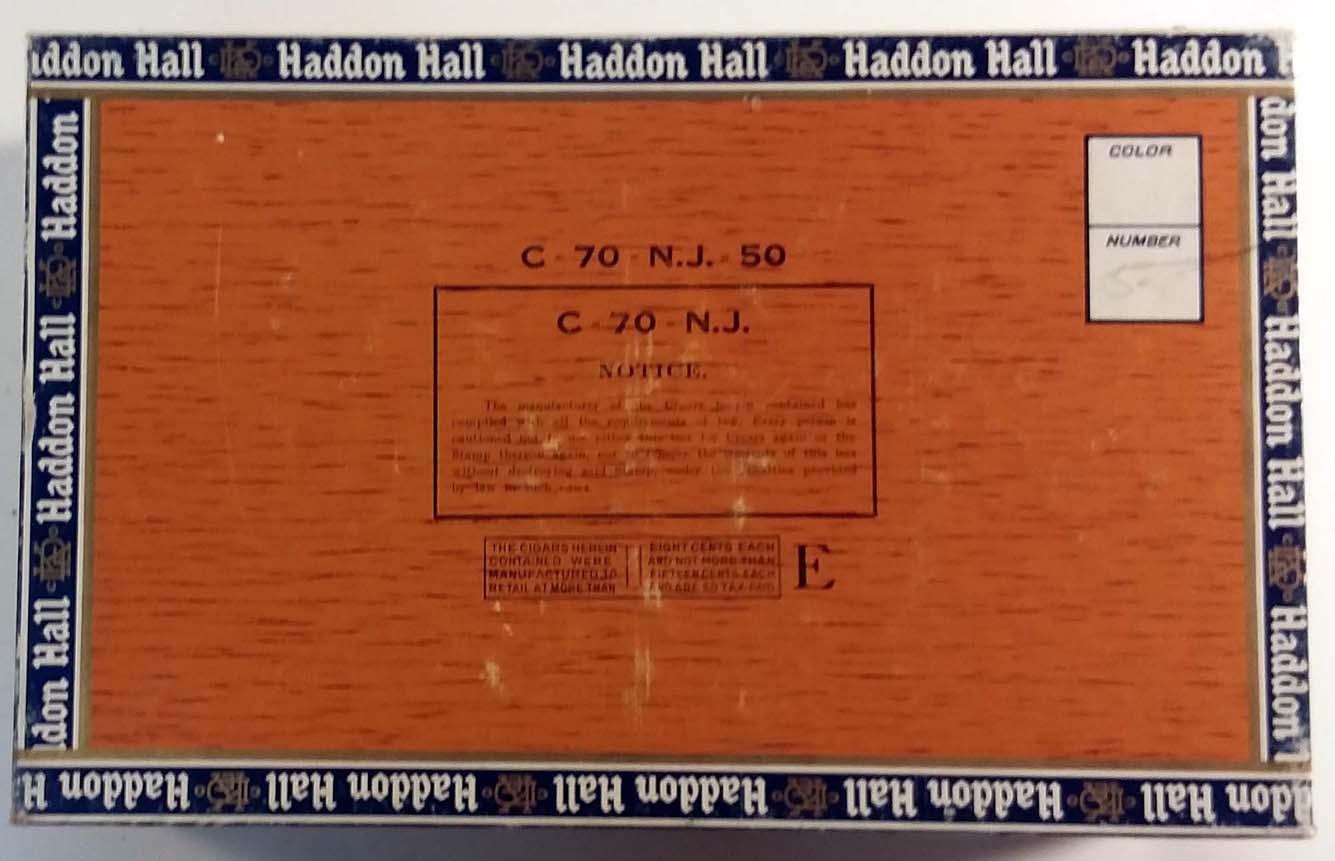 D Emil Klein Haddon Hall Biltmores Cigar Box empty Claro S S Pierce Boston