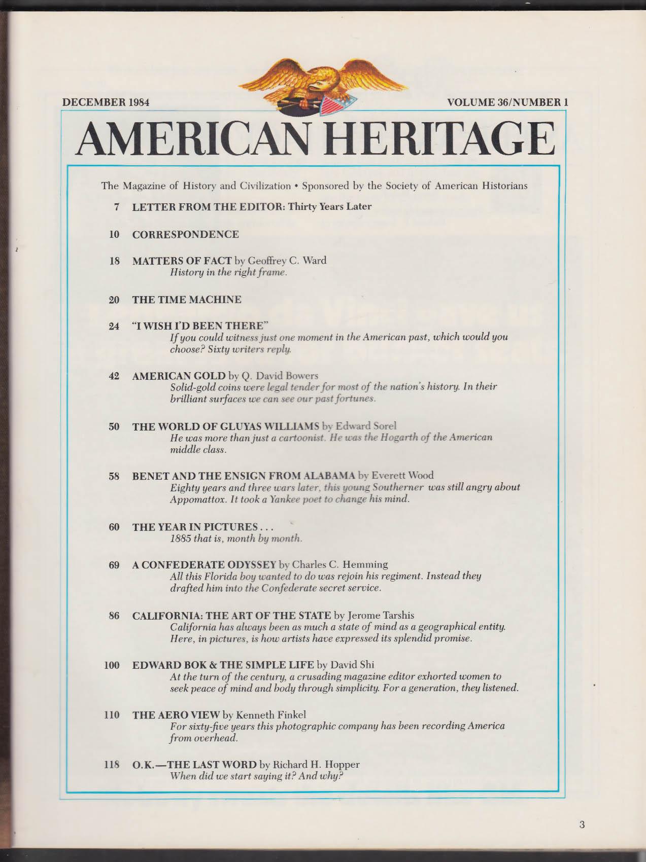 AMERICAN HERITAGE Gluyas Williams Edward Bok Everett Wood + 12 1984
