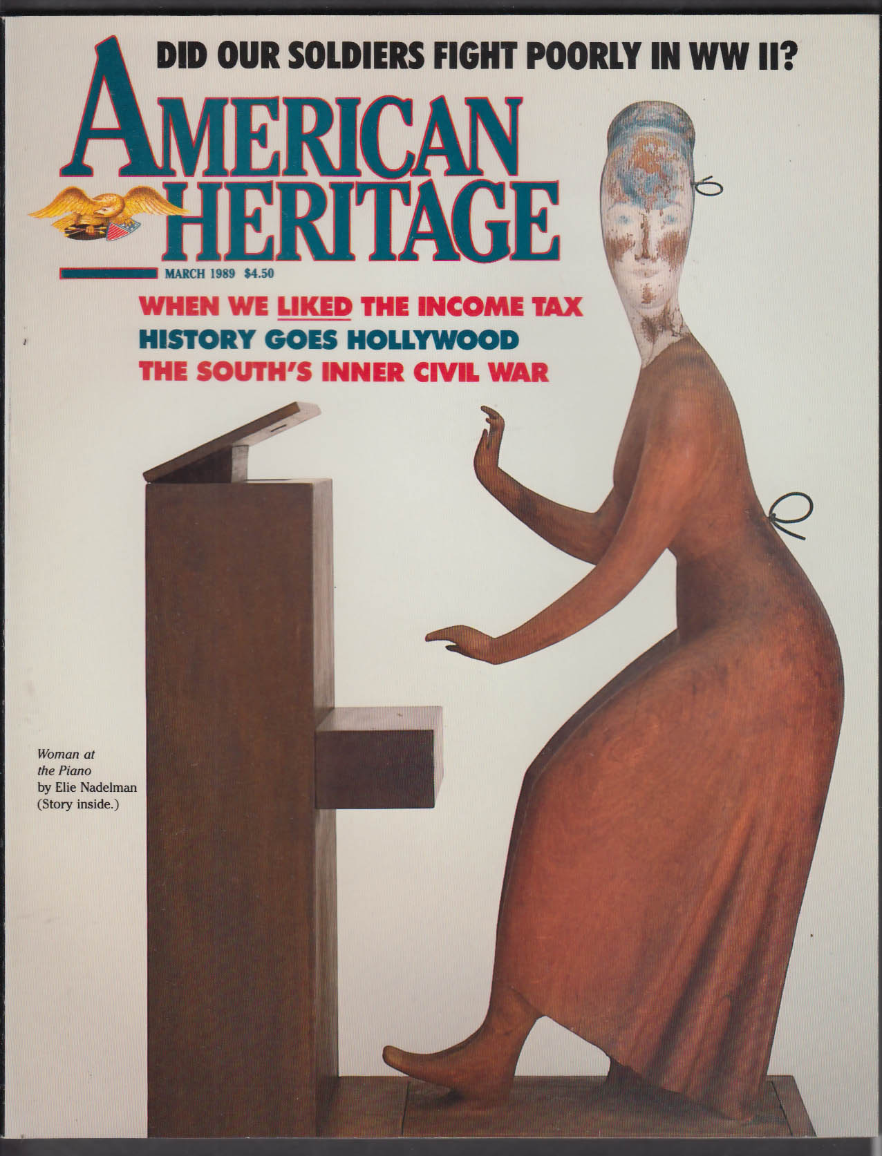 AMERICAN HERITAGE Elie Nadelman FDR + 3 1989