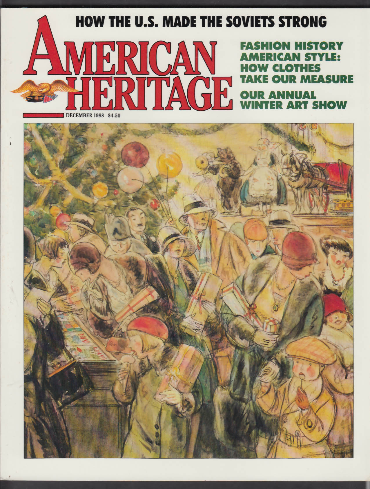 AMERICAN HERITAGE Currier & Ives Wall Street Journal USSR + 12 1988