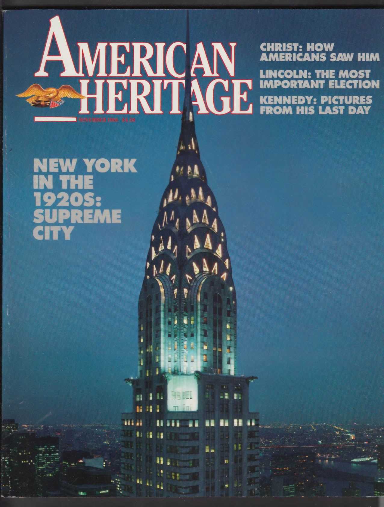 AMERICAN HERITAGE New York City Christ Lincoln Kennedy + 11 1988