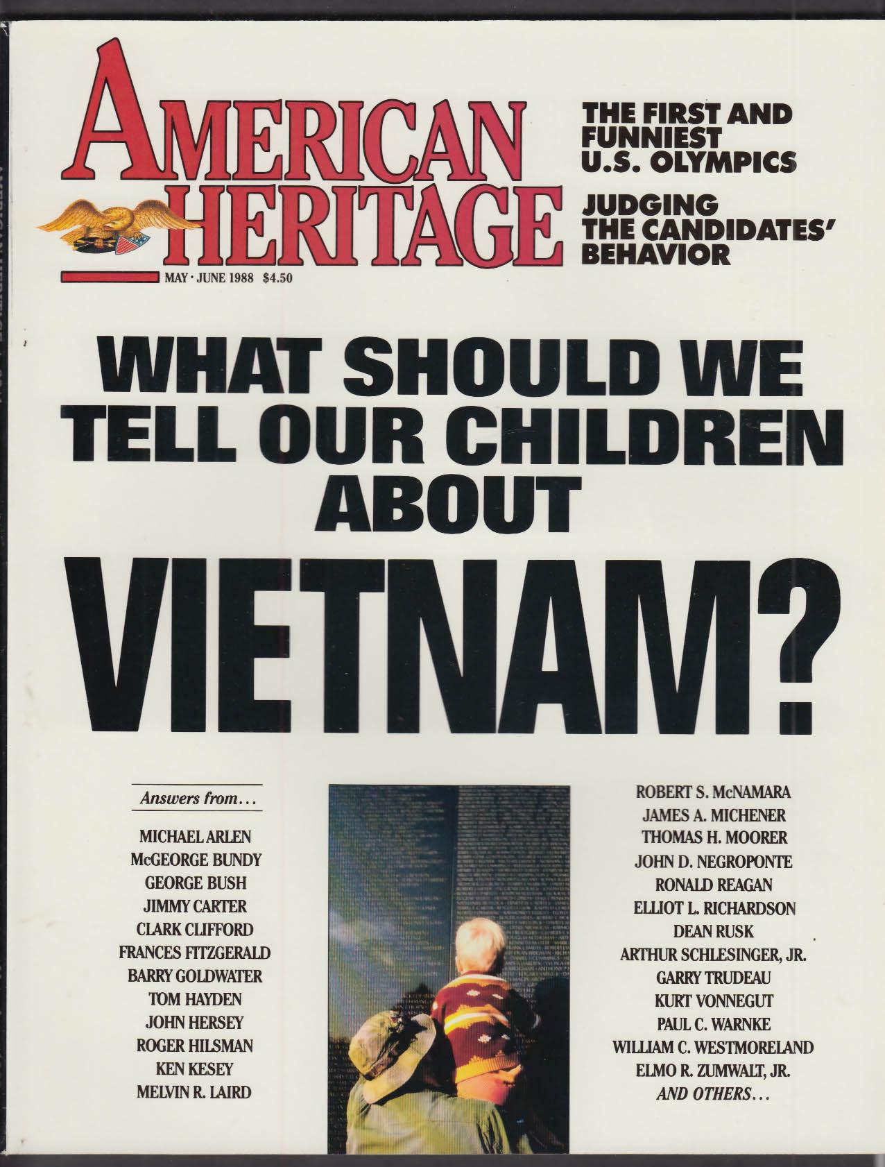 AMERICAN HERITAGE Vietnam George Bush Jimmy Carter Kurt Vonnegut ++ 5-6 1988