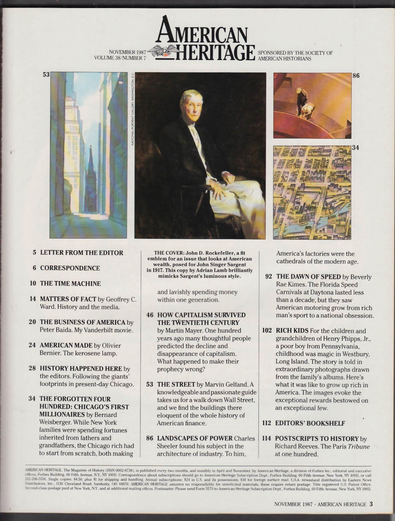 AMERICAN HERITAGE John D Rockefeller Henry Phipps Jr + 11 1987