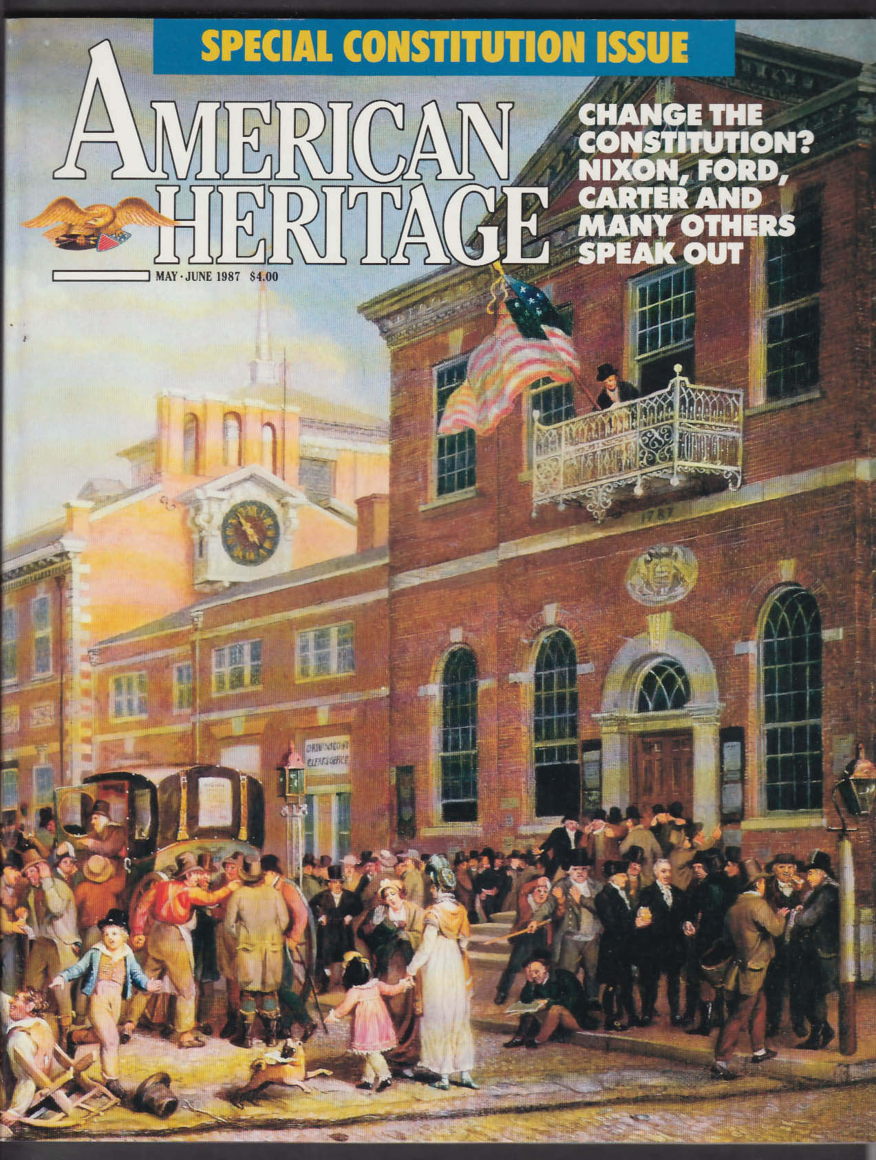 AMERICAN HERITAGE Special Constitution Issue Eli Whitney Andrew Wyeth 5-6 1987