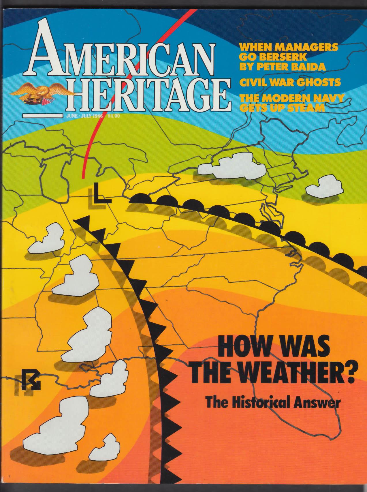 AMERICAN HERITAGE Oliver Wendell Holmes Ralph Waldo Emerson + 6-7 1986