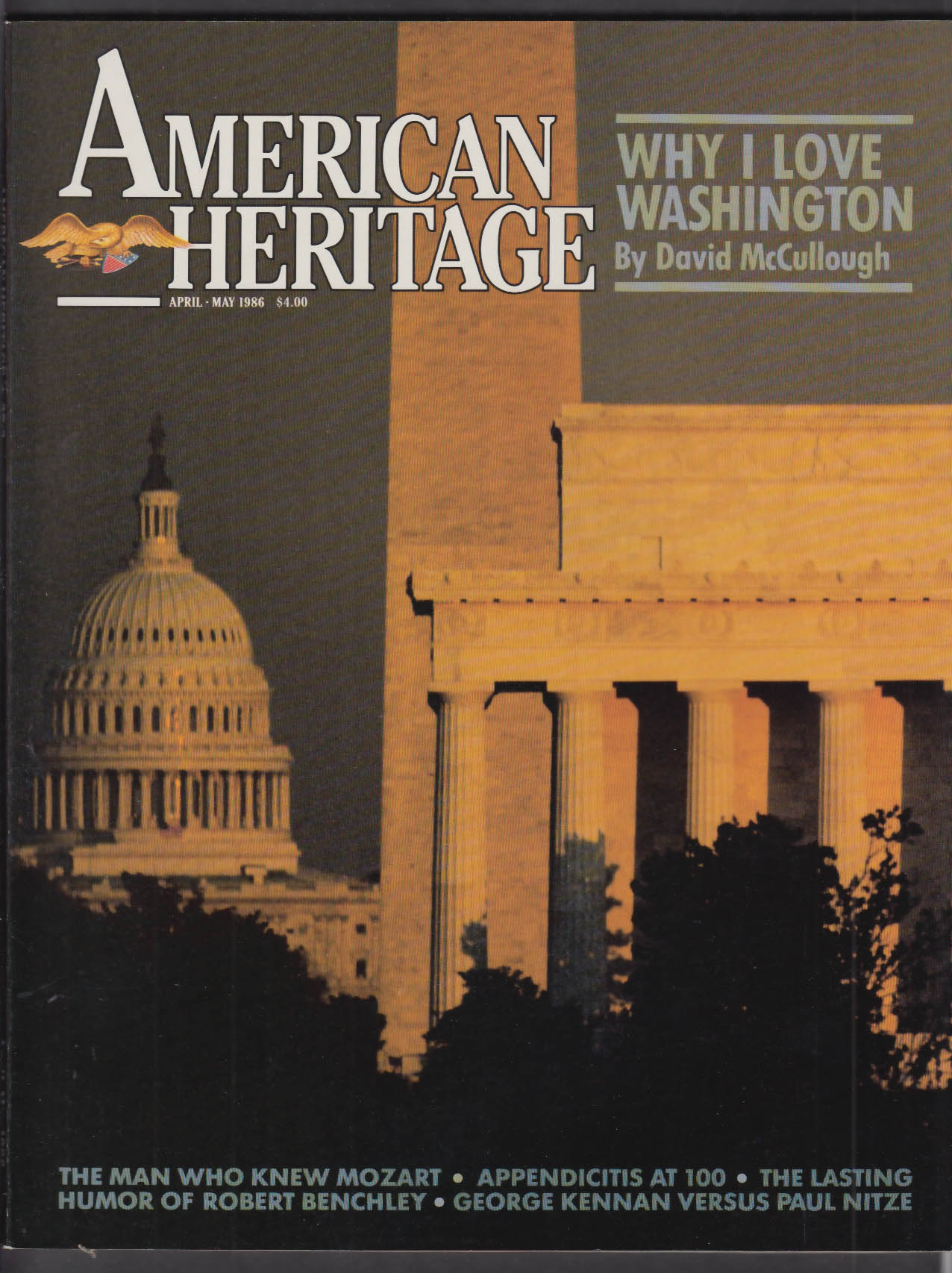 AMERICAN HERITAGE David McCullough Robert Benchley George Kennan + 4-5 1986