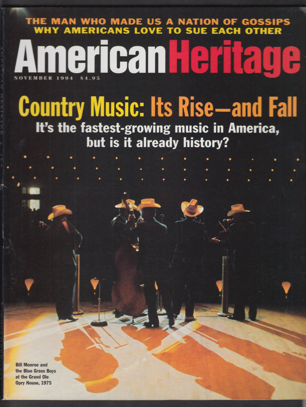 AMERICAN HERITAGE Country Music Walter Winchell Ronald L Numbers + 11 1994