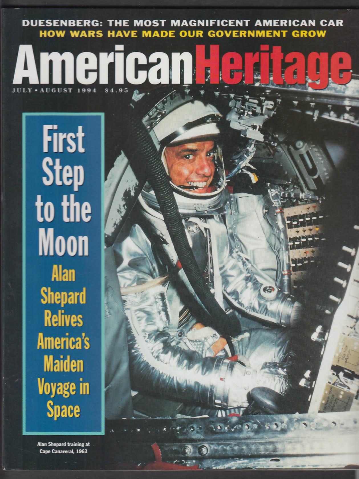 AMERICAN HERITAGE Alan Shepard Duesenberg William Ferris Nuremberg + 7-8 1994