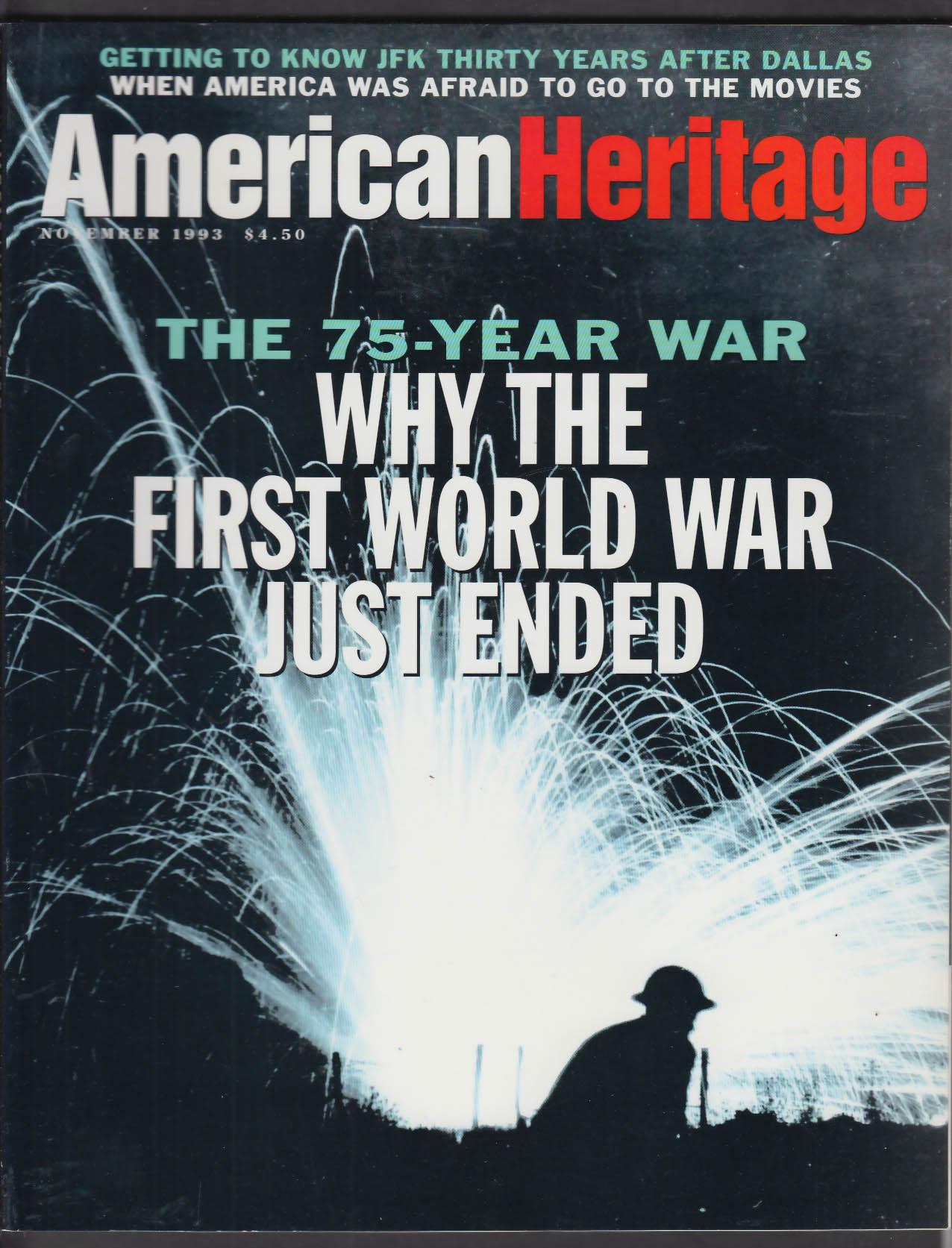 AMERICAN HERITAGE First World War JFK + 11 1993