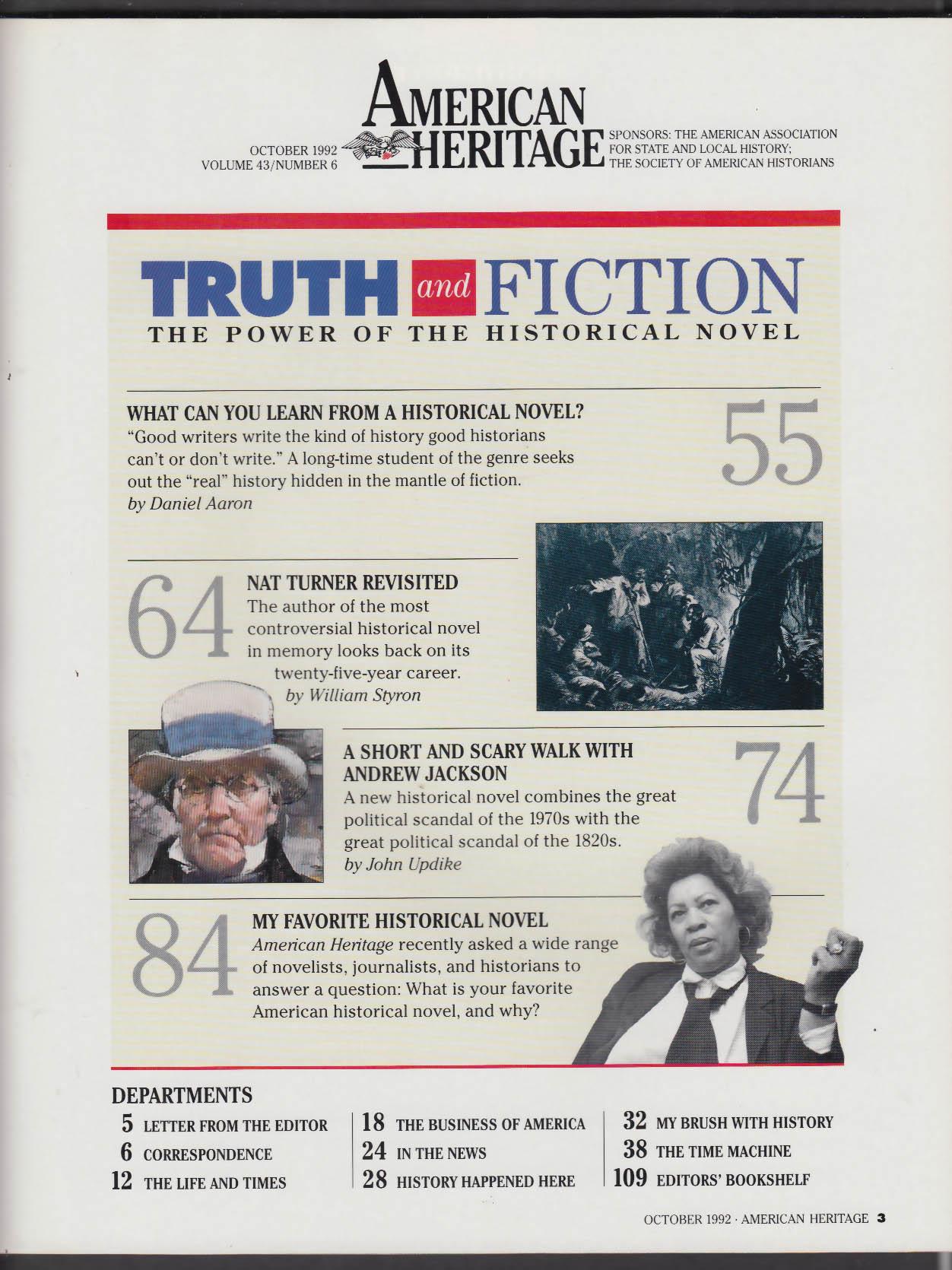 AMERICAN HERITAGE William Styron Nat Turner John Updike Andrew Jackson + 10 1992