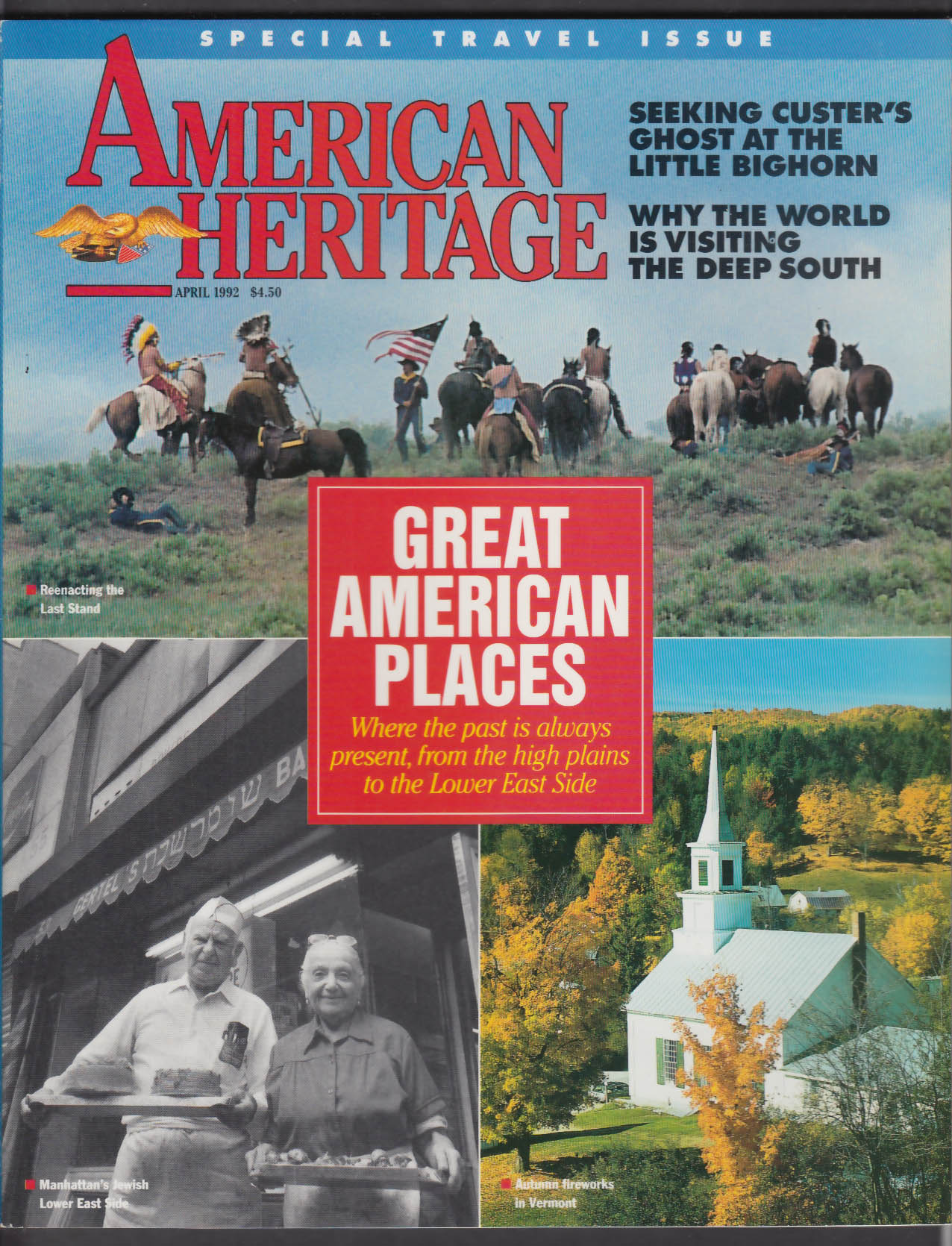 AMERICAN HERITAGE Jewish Lower East Side Little Bighorn Custer Slavery + 4 1992
