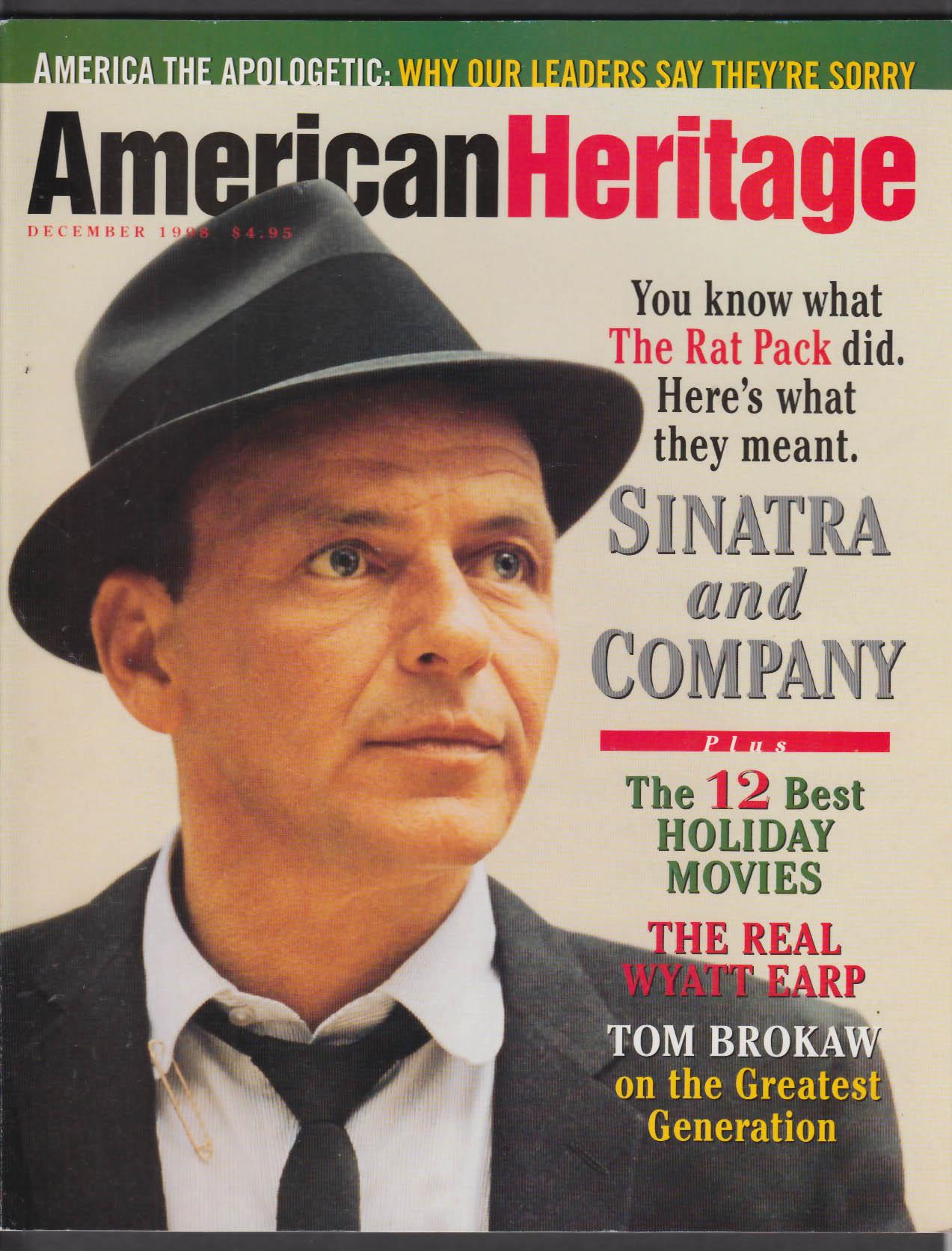 AMERICAN HERITAGE Frank Sinatra Wyatt Earp Tom Brokaw Saburo Sakai + 12 1998