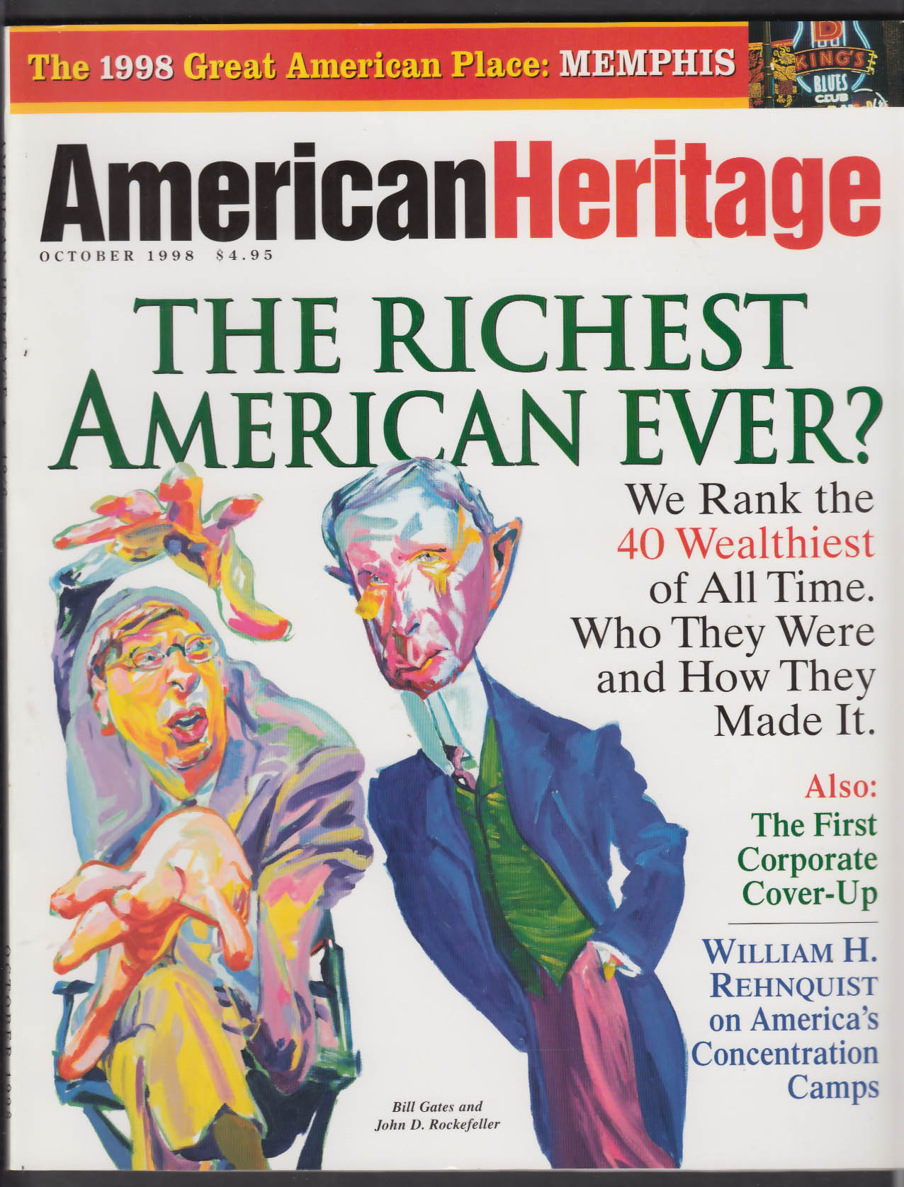 AMERICAN HERITAGE Bill Gates John D Rockefeller William H Rehnquist + 10 1998