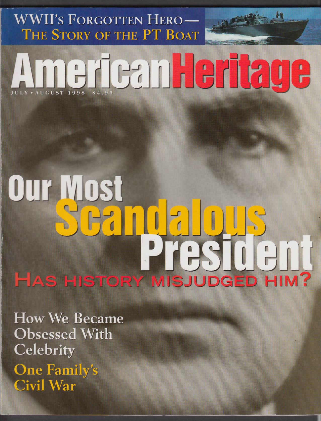 AMERICAN HERITAGE Warren Harding Seabiscuit Al Hirschfeld + 7-8 1998