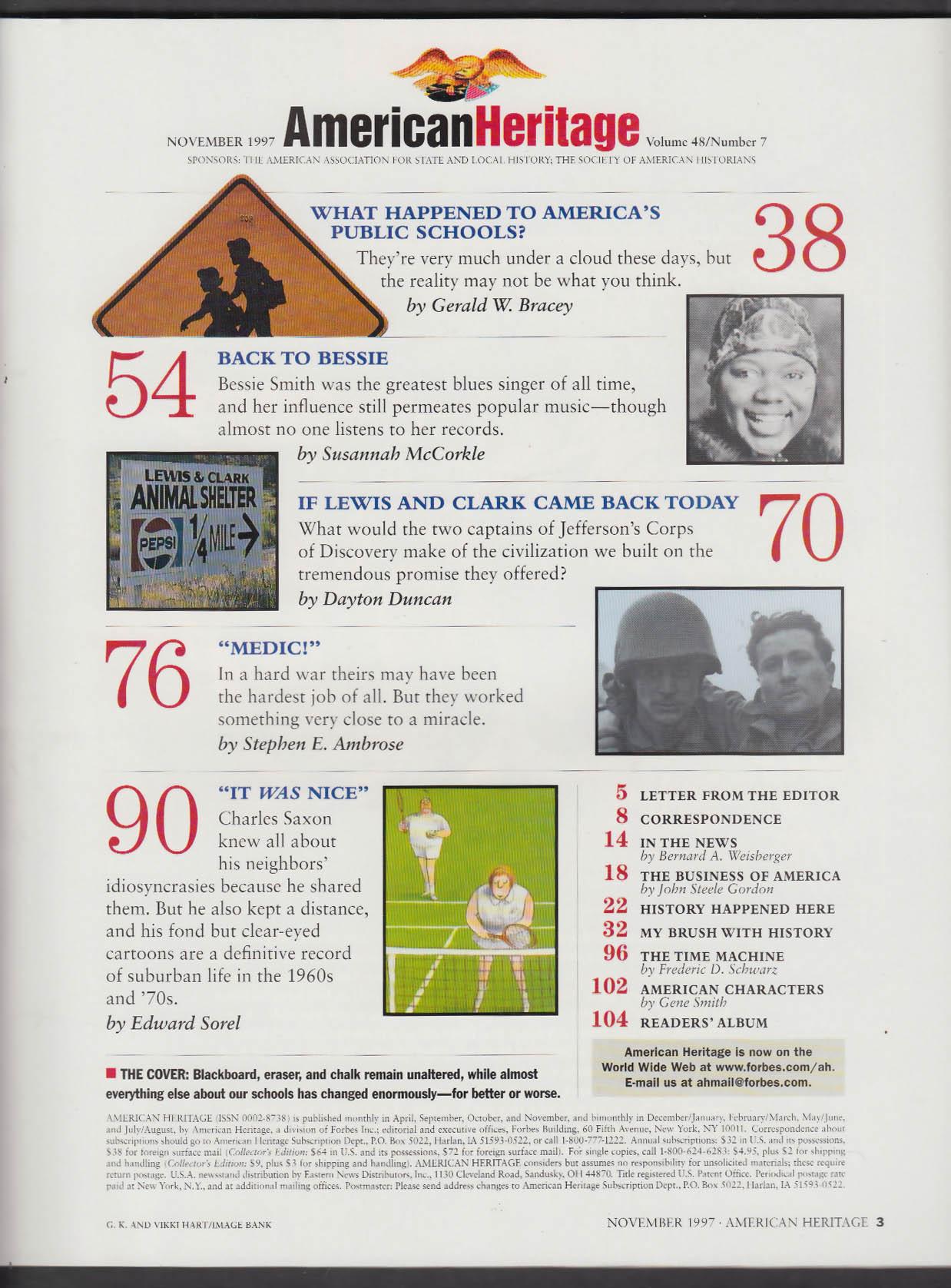 AMERICAN HERITAGE Stephen E Ambrose Bessie Smith Charles Saxon + 11 1997