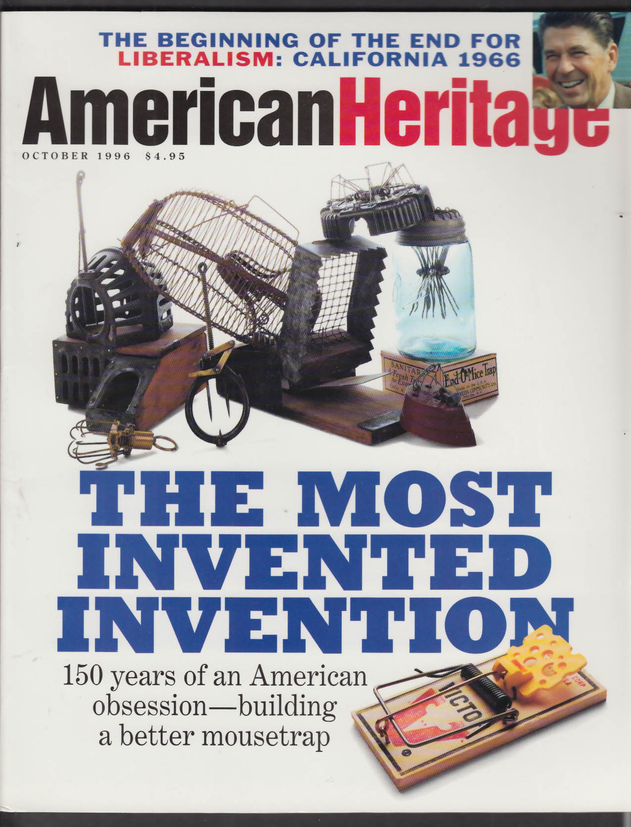 AMERICAN HERITAGE Mousetraps Mark Twain Willie Morris Leo Frank + 10 1996