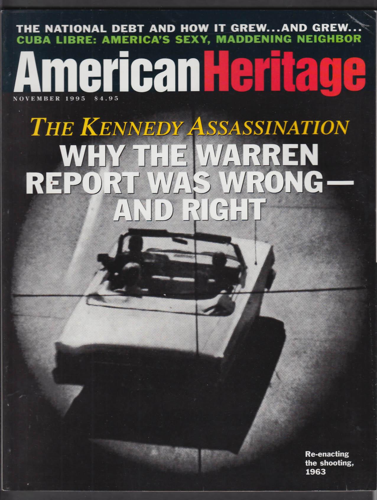 AMERICAN HERITAGE Kennedy Assassination Federal Debt San Patricios Cuba 11 1995