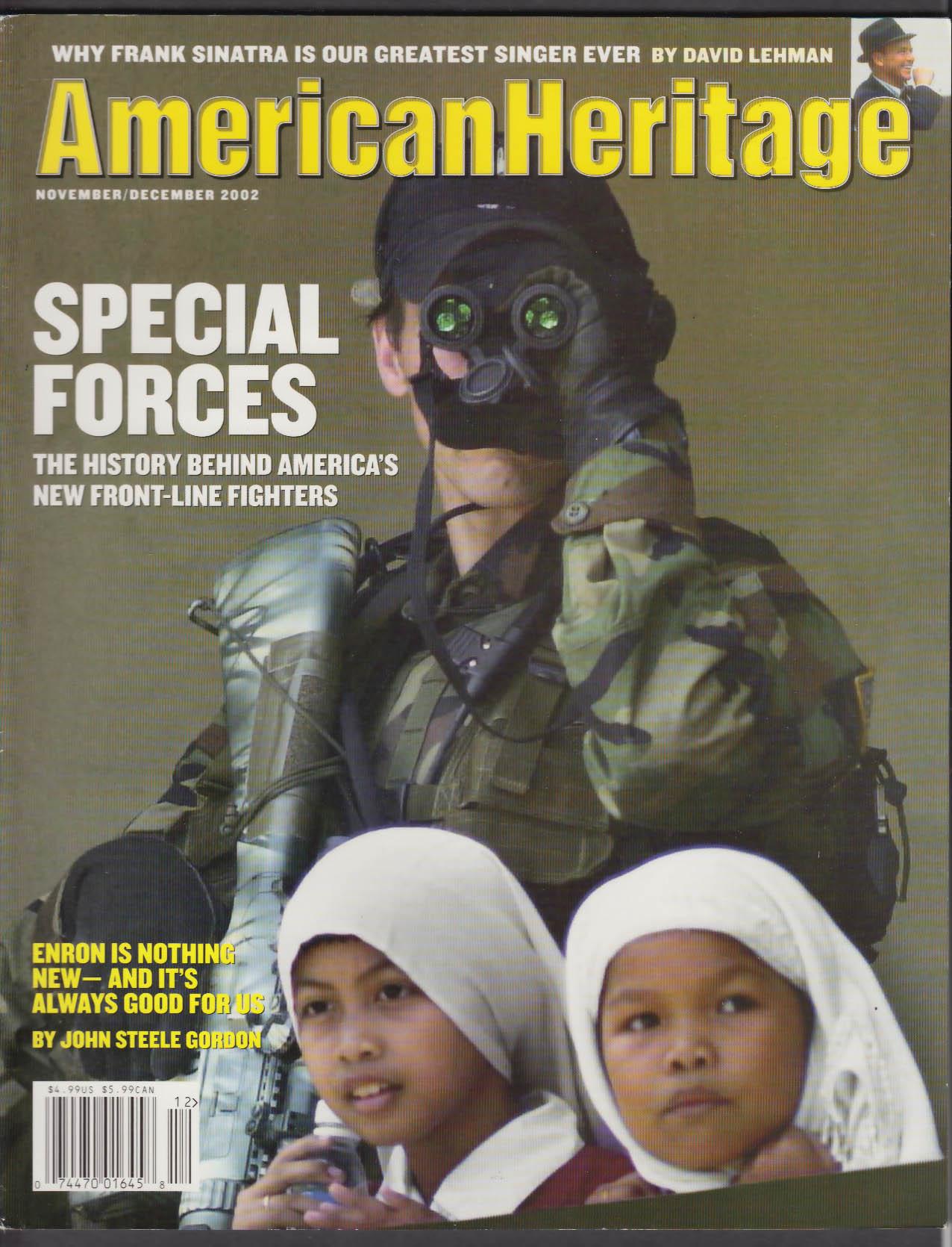 AMERICAN HERITAGE Frank Sinatra Enron Special Forces + 11-12 2002