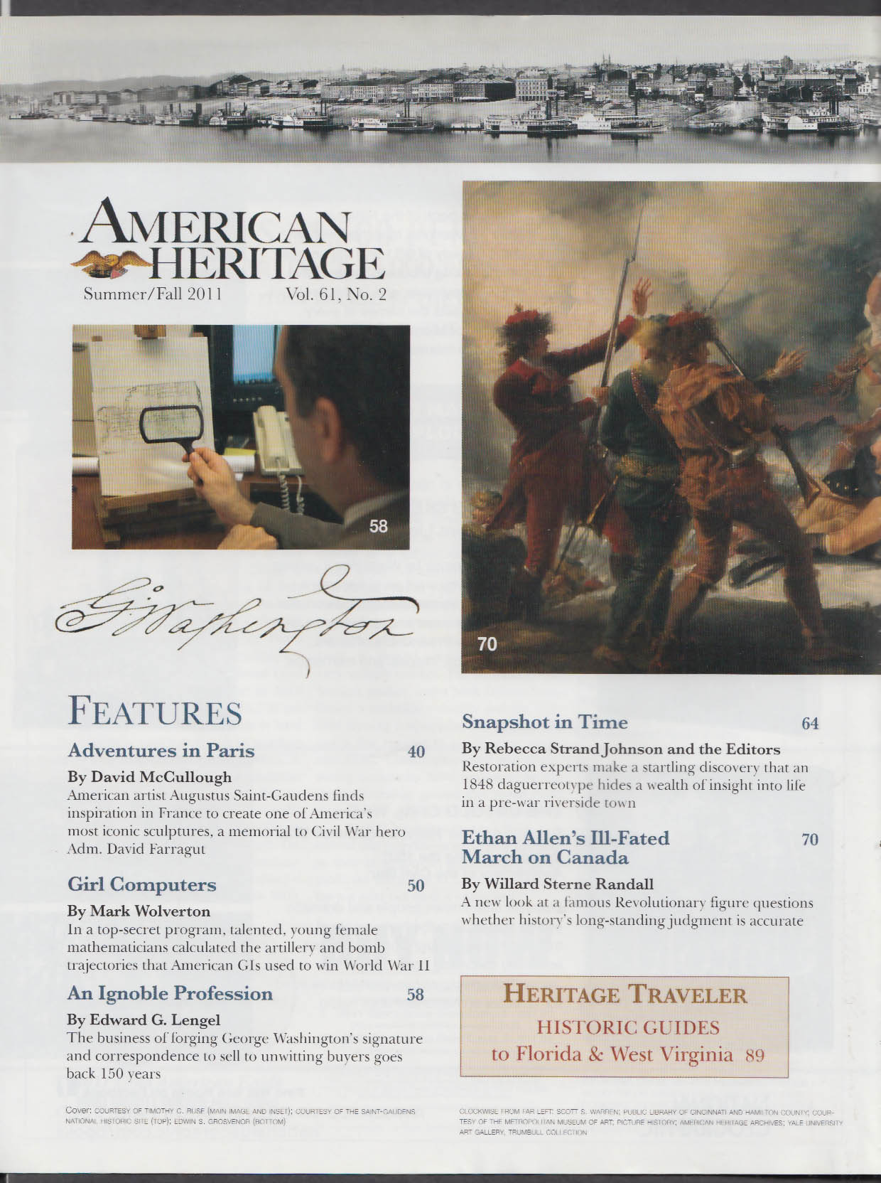 AMERICAN HERITAGE David McCullough Ethan Allen + Summer-Fall 2011