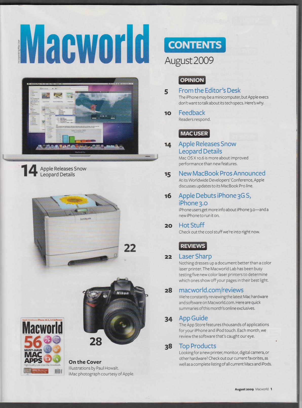 MACWORLD Apple iPhone 3G S MacBook Pro Mac ++ 8 2009