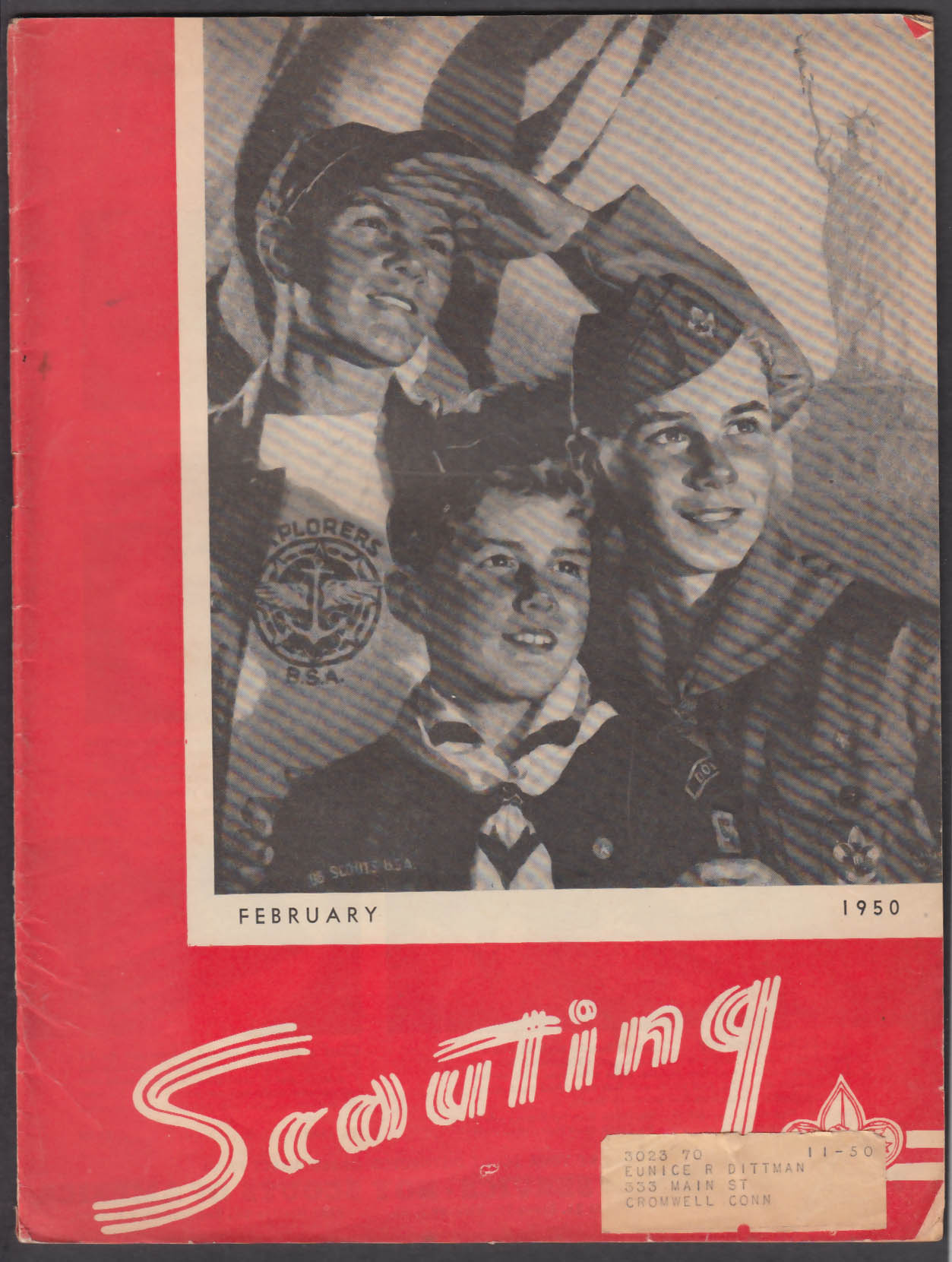 SCOUTING Boy Scouts of America Packing for Camp ++ 2 1950