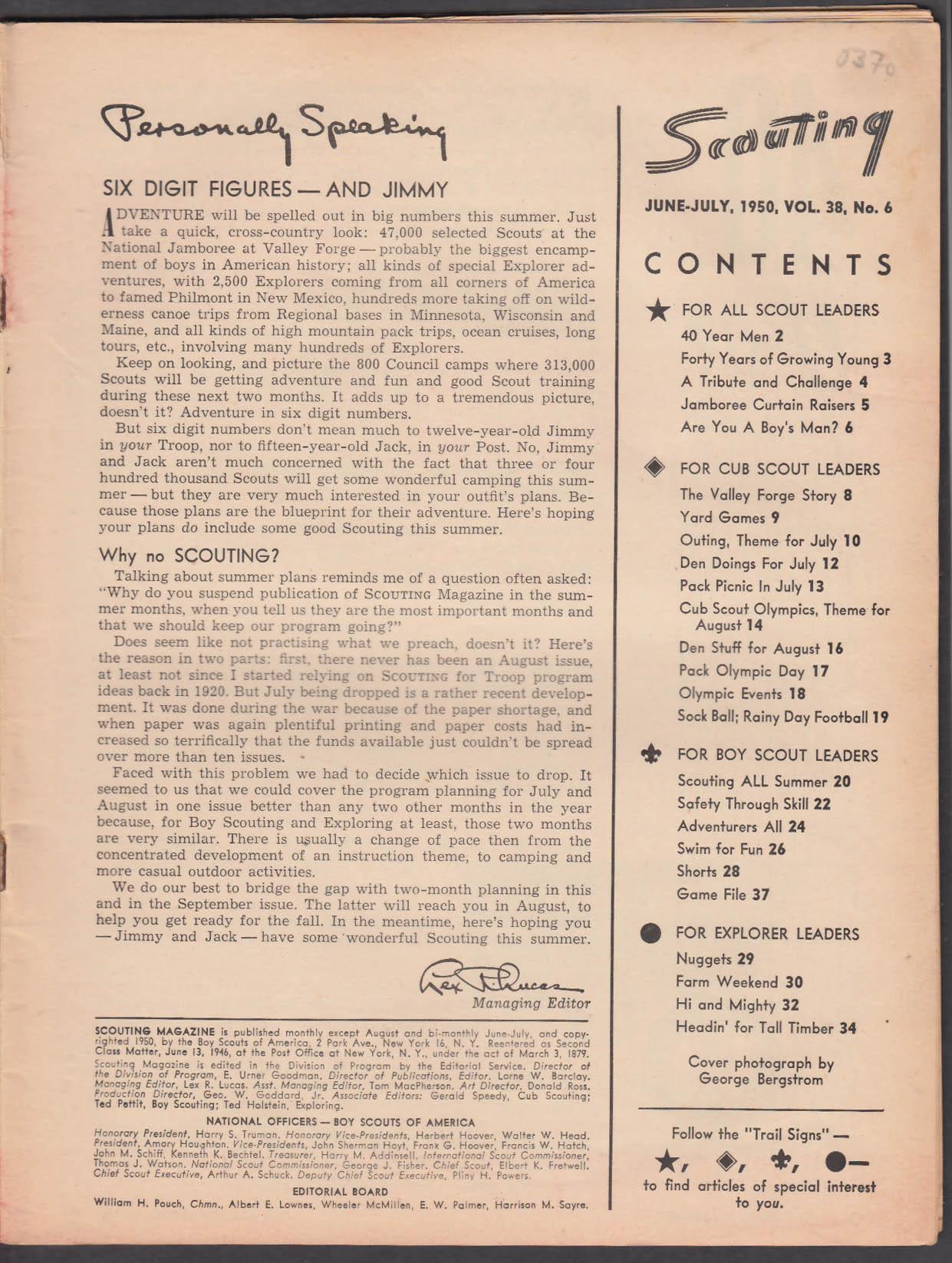 SCOUTING Boy Scouts of America Jamboree Summer Adventurers + 6-7 1950