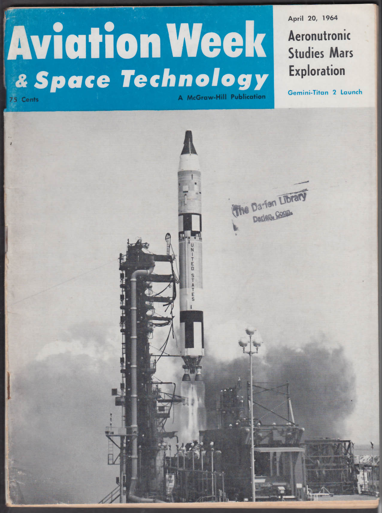 AVIATION WEEK & SPACE TECHNOLOGY Vietnam Helicopters NASA USAF ++ 4/20 1964