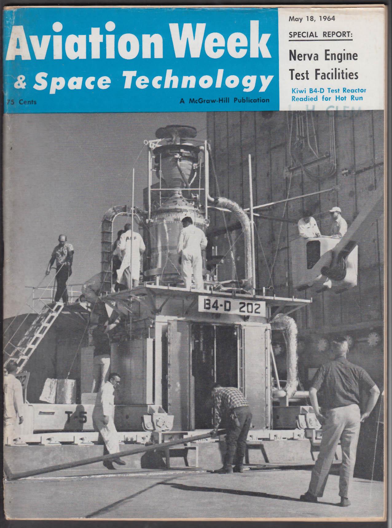 AVIATION WEEK & SPACE TECHNOLOGY Saturn 1B XB-70A McNamara Vietnam + 5/18 1964